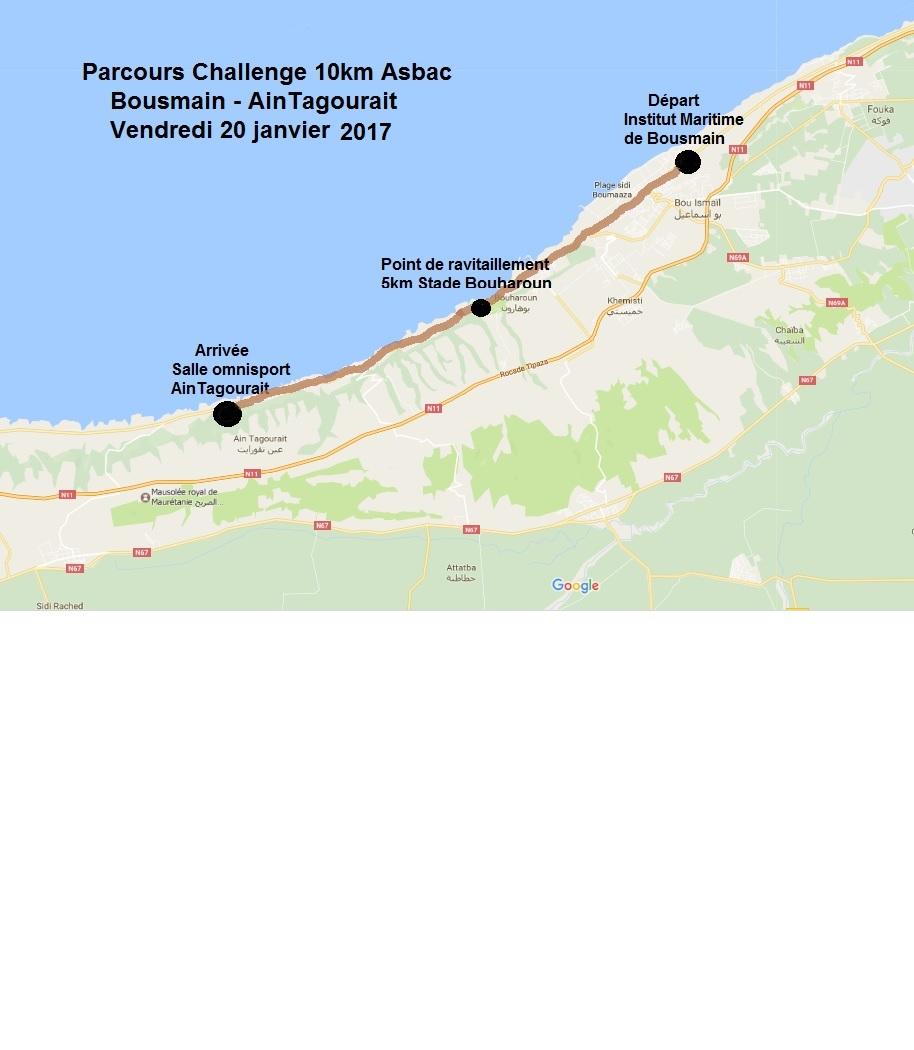 parcours challenge 10km 2017